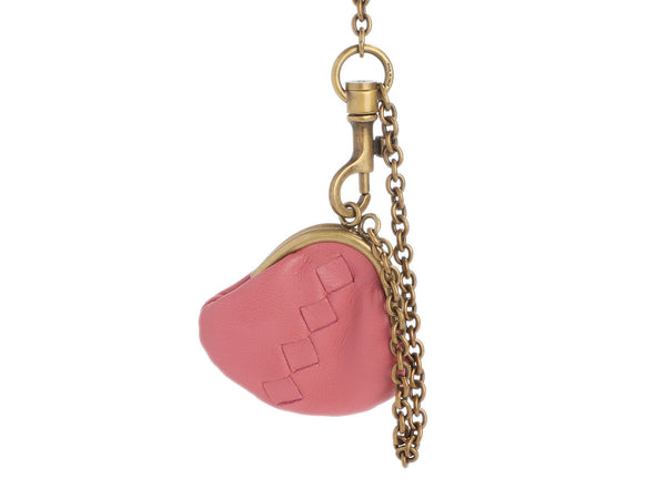 Bottega Veneta Pink Leather Coin Purse Charm