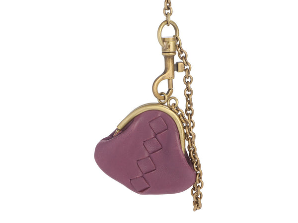 Bottega Veneta Lavender Leather Coin Purse Charm