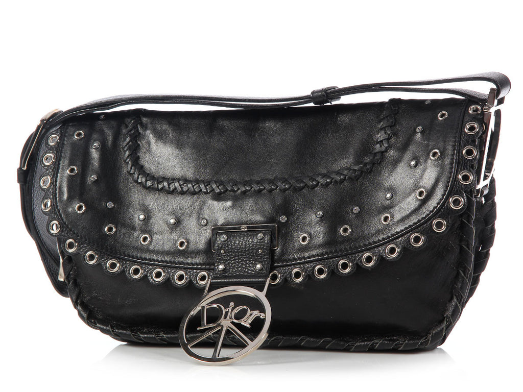 Christian Dior Black Peace Flap