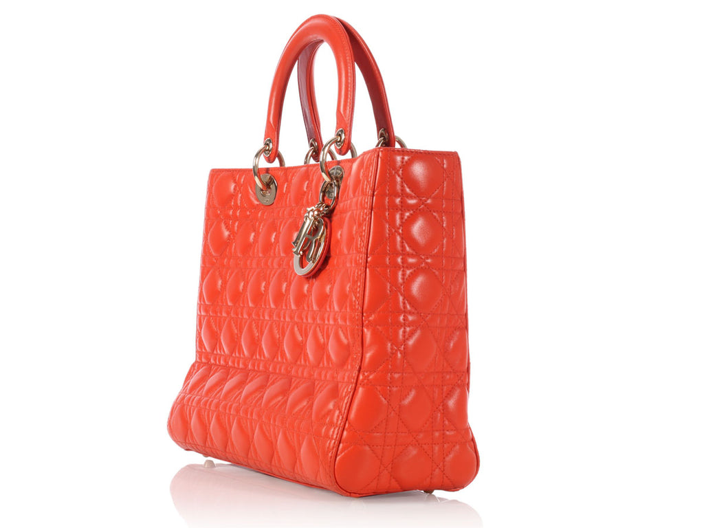 Dior Large Orange Lady Dior
