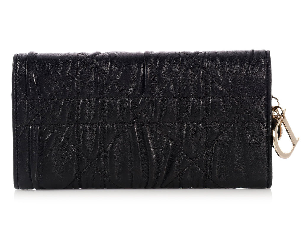 Christian Dior Black Lady Dior Wallet