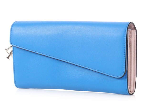 Dior Blue Diorissimo Long Wallet