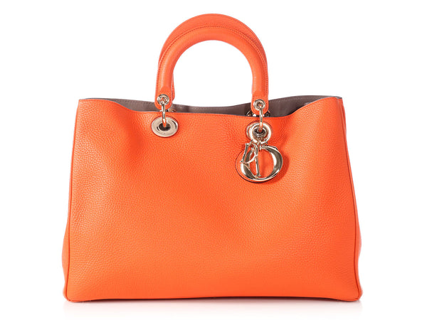 Dior Large Orange Diorissimo Tote