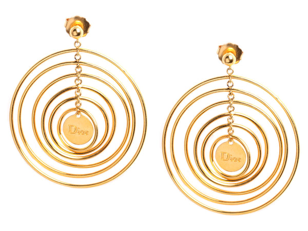 Dior Sterling Silver Vermeil Multi Hoop Earrings