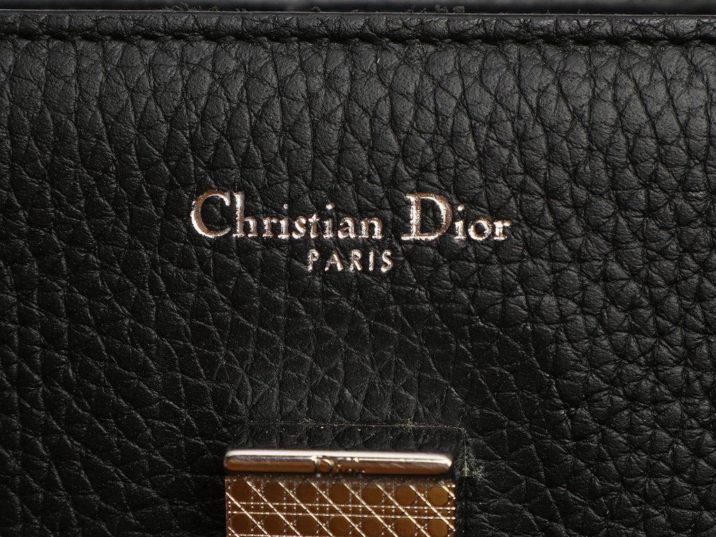 Dior Medium Black Grained Calfskin Diorever Flap