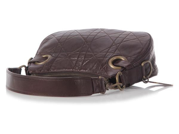 Dior Brown Cannage Hobo