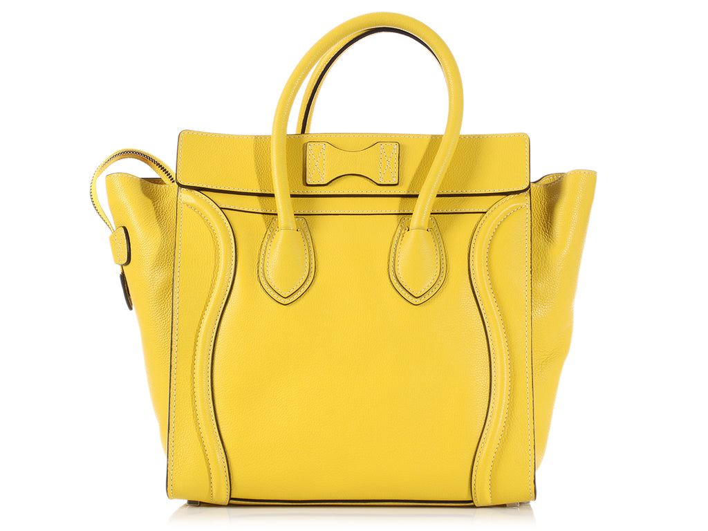 Céline Citron Mini Luggage