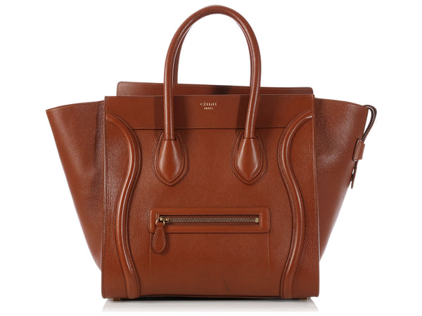 Céline Caramel Mini Luggage