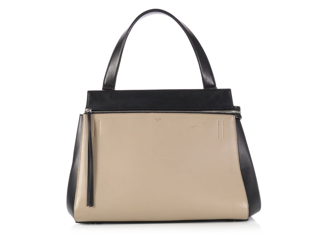 Céline Medium Beige and Black Edge