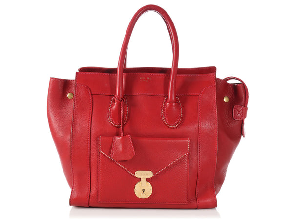 Céline Red Envelope Luggage Tote