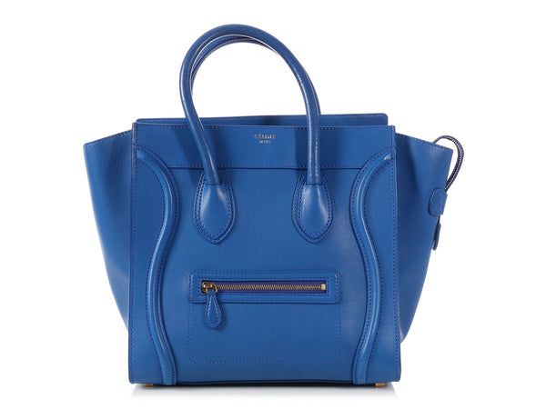 Céline Royal Blue Mini Luggage