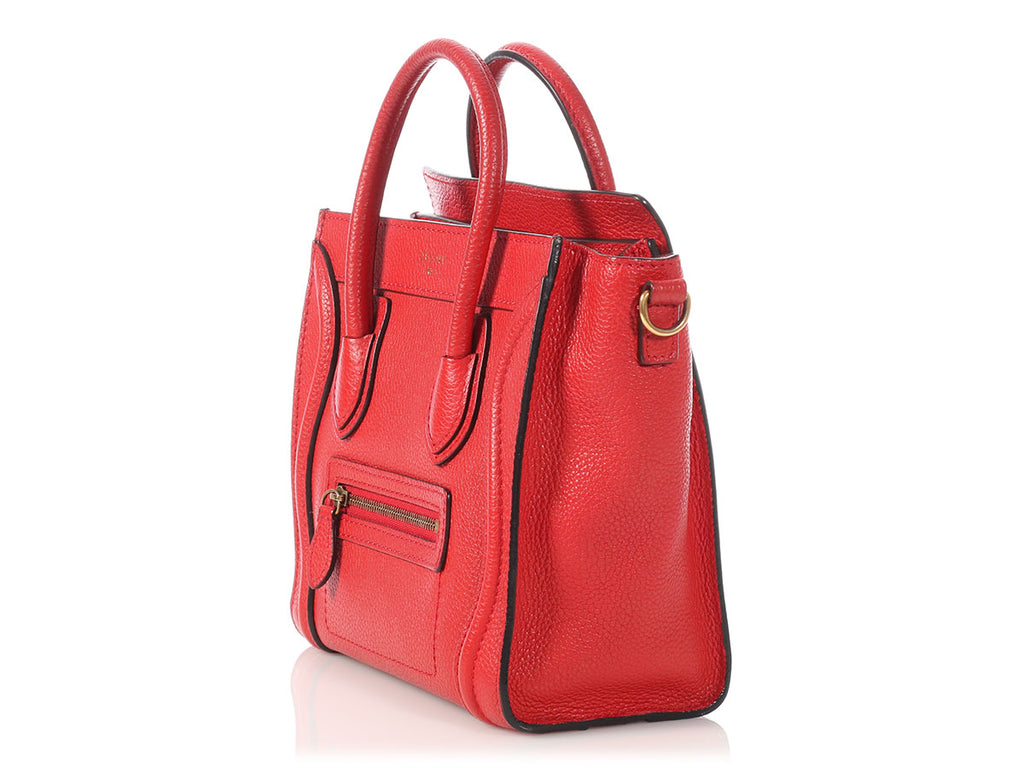 Céline Red Nano Luggage