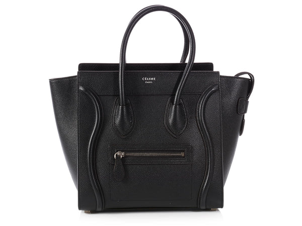 Céline Black Drum Calfskin Micro Luggage