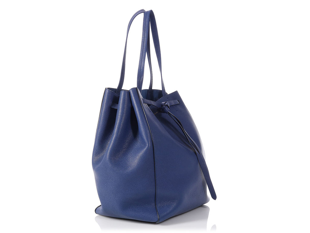Céline Medium Blue Cabas Phantom with Belt
