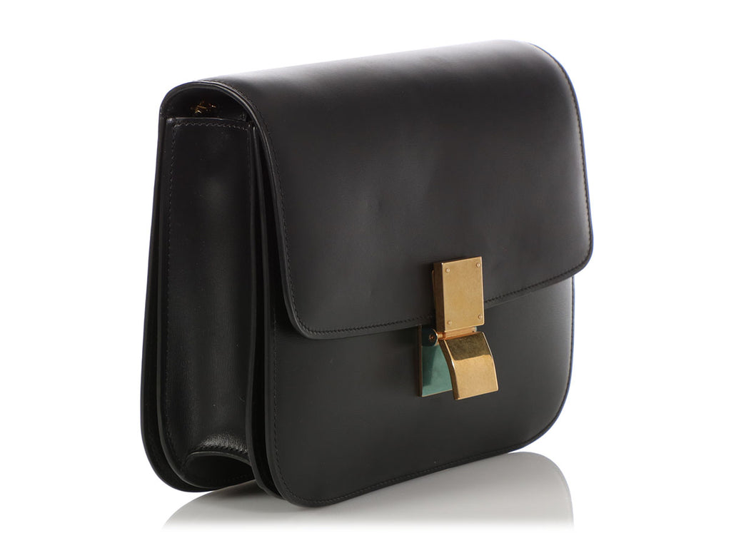Céline Medium Black Classic Box Bag