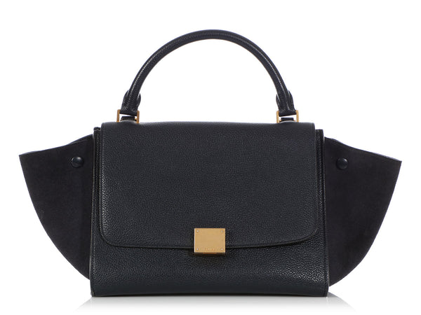 Céline Medium Navy Trapeze