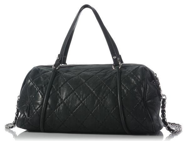 Chanel Iridescent Black Boston Bag