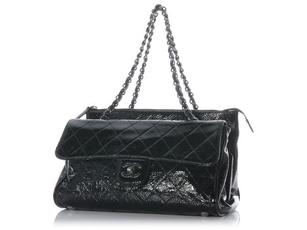 Chanel Black Patent Ritz Shoulder Bag