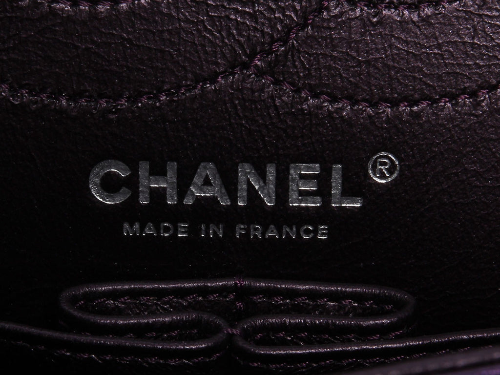 Chanel Metallic Purple Reissue 227