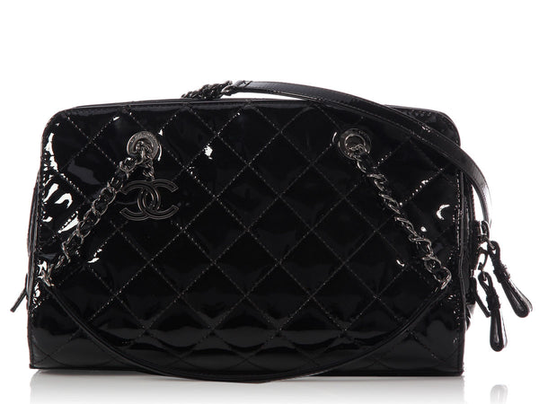 Chanel Black Patent Shoulder Bag