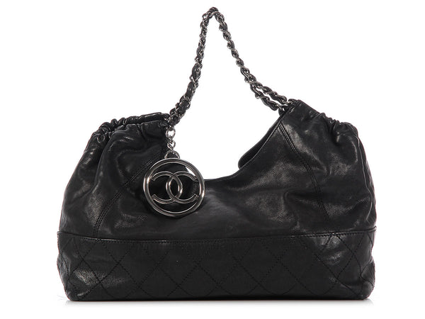 Chanel Black Leather Baby Coco Cabas