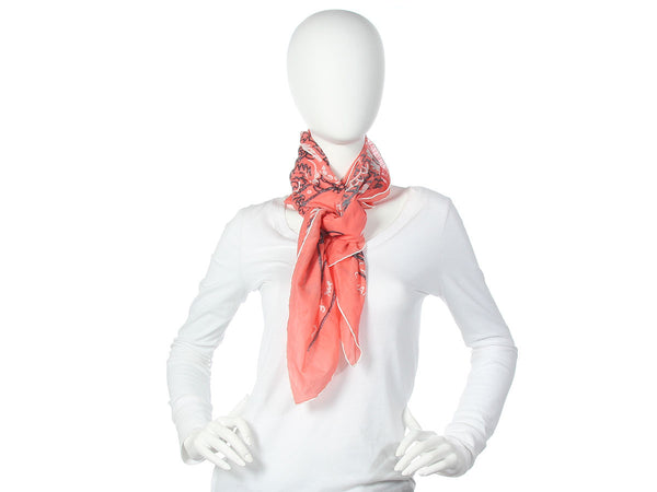 Chanel Pink Cotton Bandana Scarf
