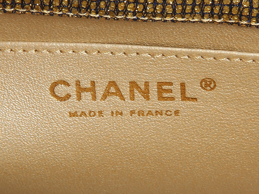 Chanel Gold Crystal Flap