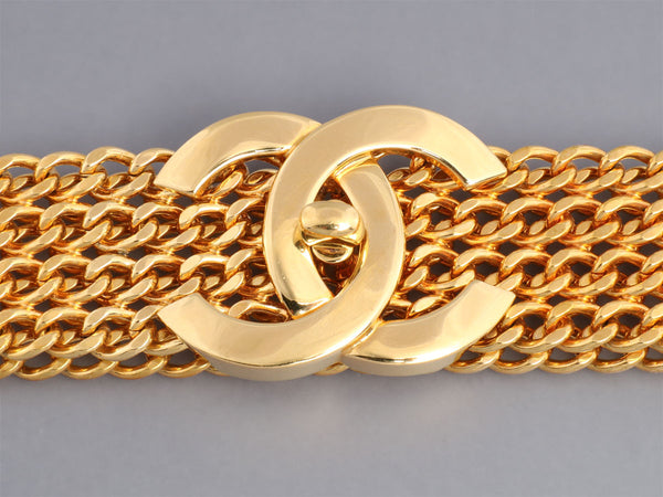 Chanel Golden Turn Lock Belt