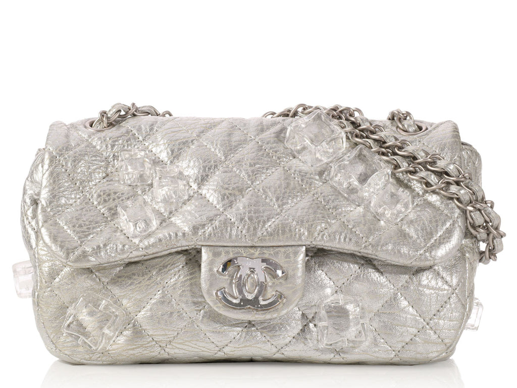 Chanel Silver on the Rocks Ice Cube Flap