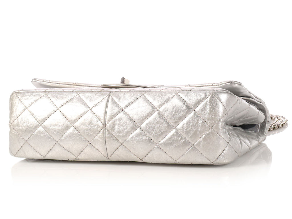 Chanel Silver Metallic Reissue 227