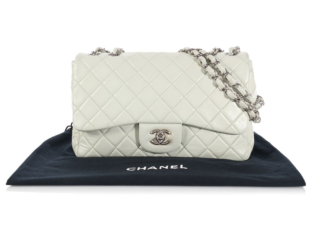 Chanel Pastel Green Jumbo Classic Single Flap