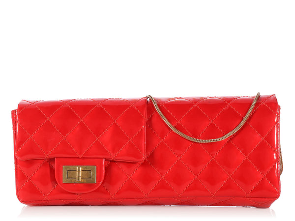Chanel Red Patent Reversible Reissue Clutch