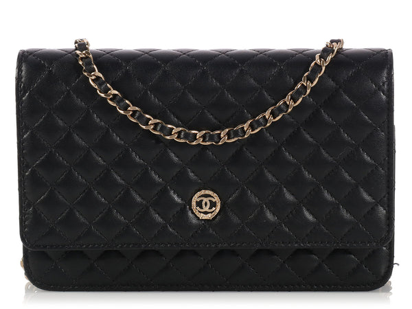 Chanel Black Wallet on a Chain