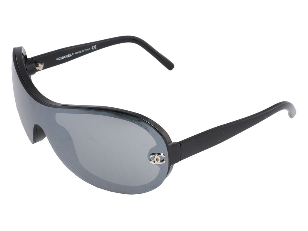 Chanel Black Shield Sunglasses