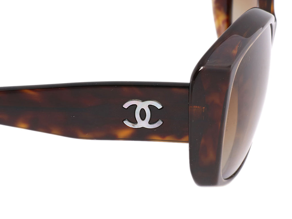Chanel Polarized Tortoiseshell Sunglasses