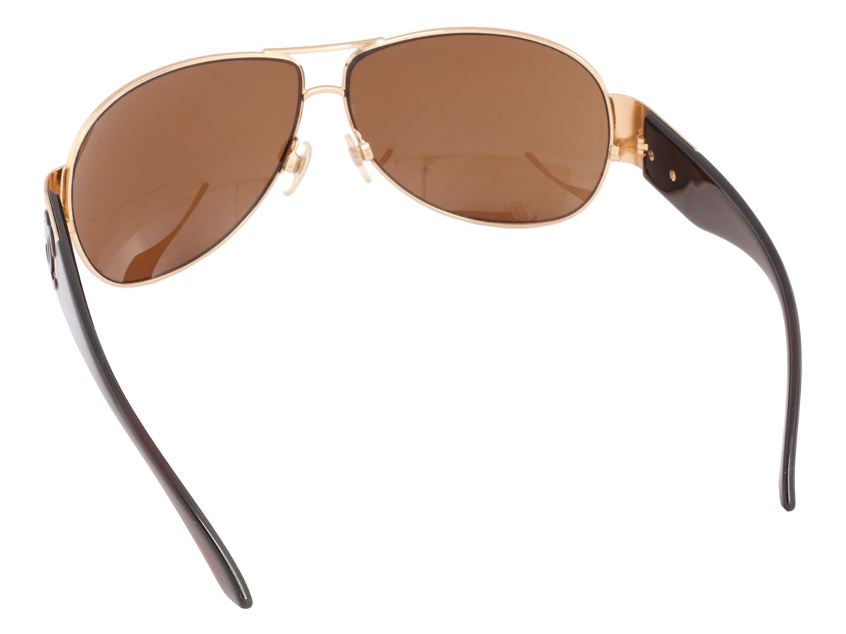 ab46be6a9 Chanel Gold Rimmed Aviator Sunglasses - Ann's Fabulous Closeouts