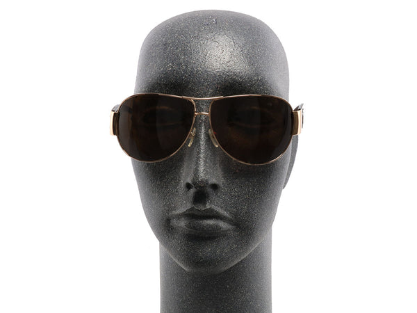 Chanel Gold Rimmed Aviator Sunglasses