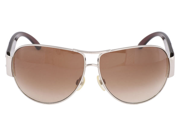 Chanel Silver Rimmed Aviator Sunglasses