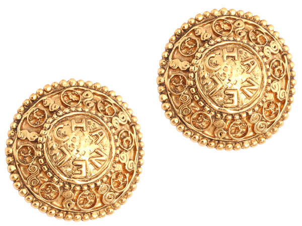 Chanel Large Vintage Clip Earrings