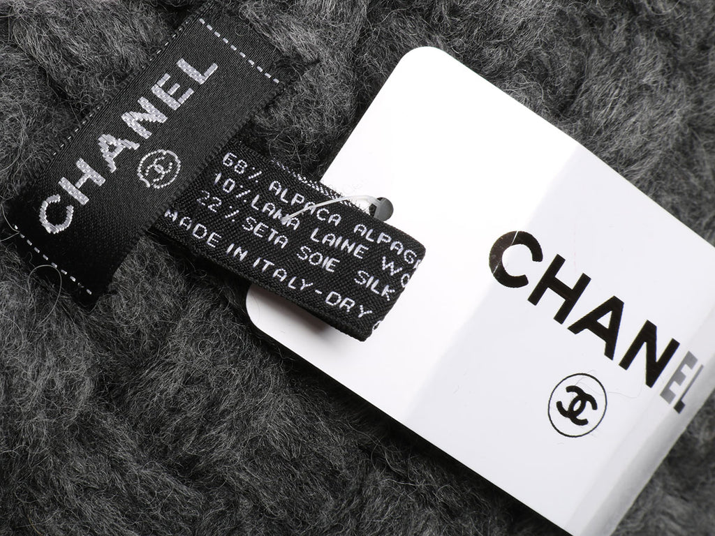 Chanel Dark Gray Métiers d'Art Scarf