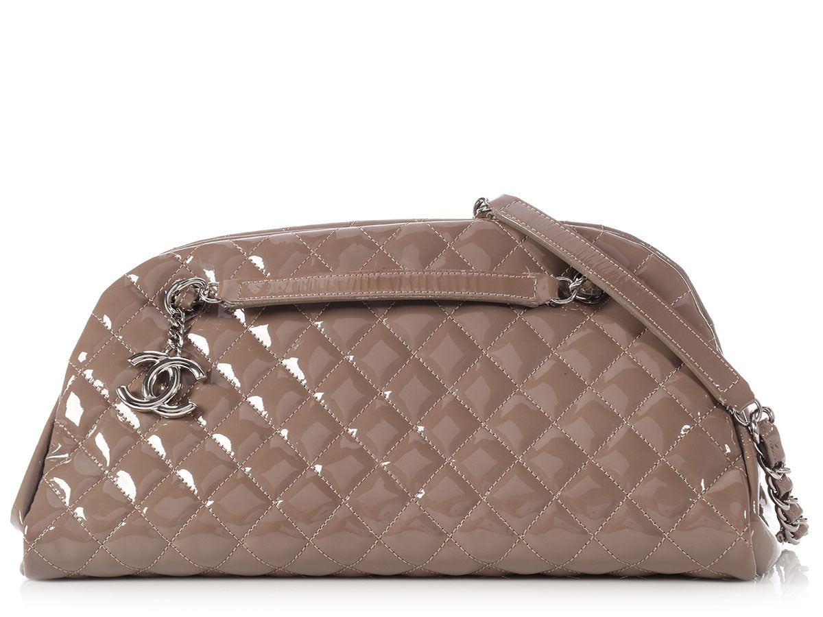 41b6eb354023 Chanel Medium Taupe Just Mademoiselle Bowling Bag - Ann s Fabulous ...