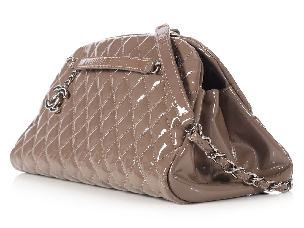 Chanel Medium Taupe Just Mademoiselle Bowling Bag