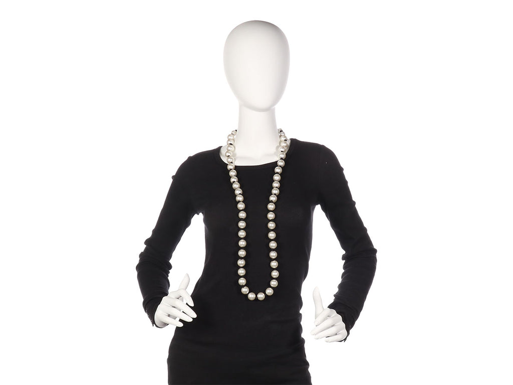 Chanel Knotted Pearl Necklace
