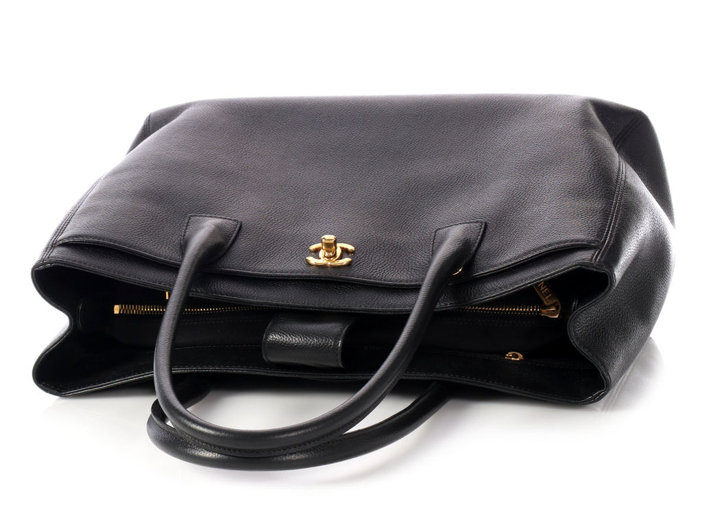 Chanel Black Caviar Executive Cerf Tote