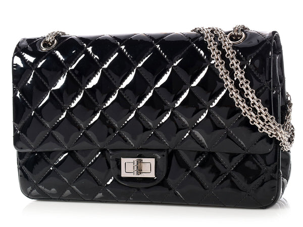 Chanel Black Patent Reissue 227 Double Flap