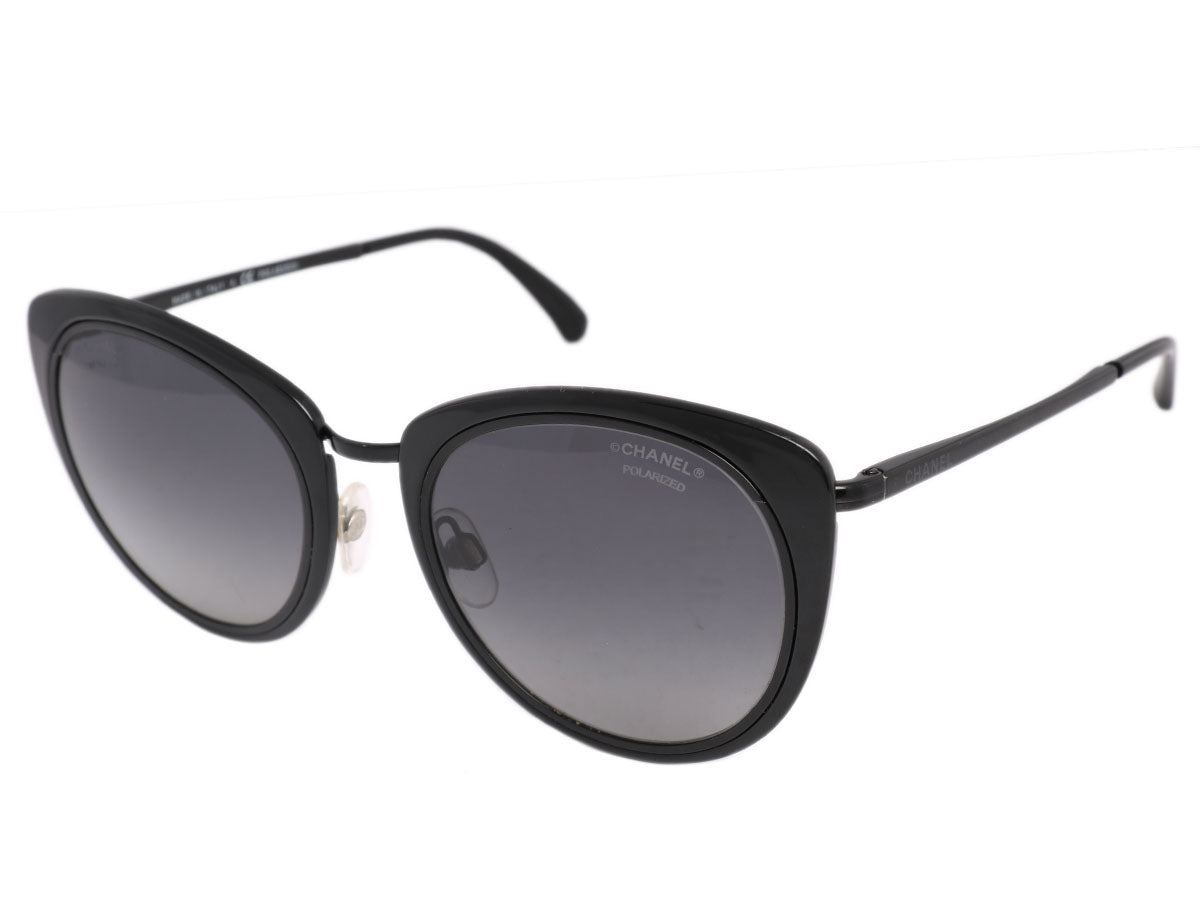 a228c9568db9 Chanel Black Cat Eye Sunglasses - Ann's Fabulous Closeouts