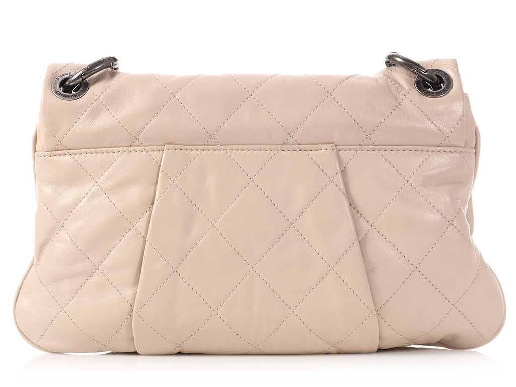 Chanel Small Beige Coco Pleats Flap Bag