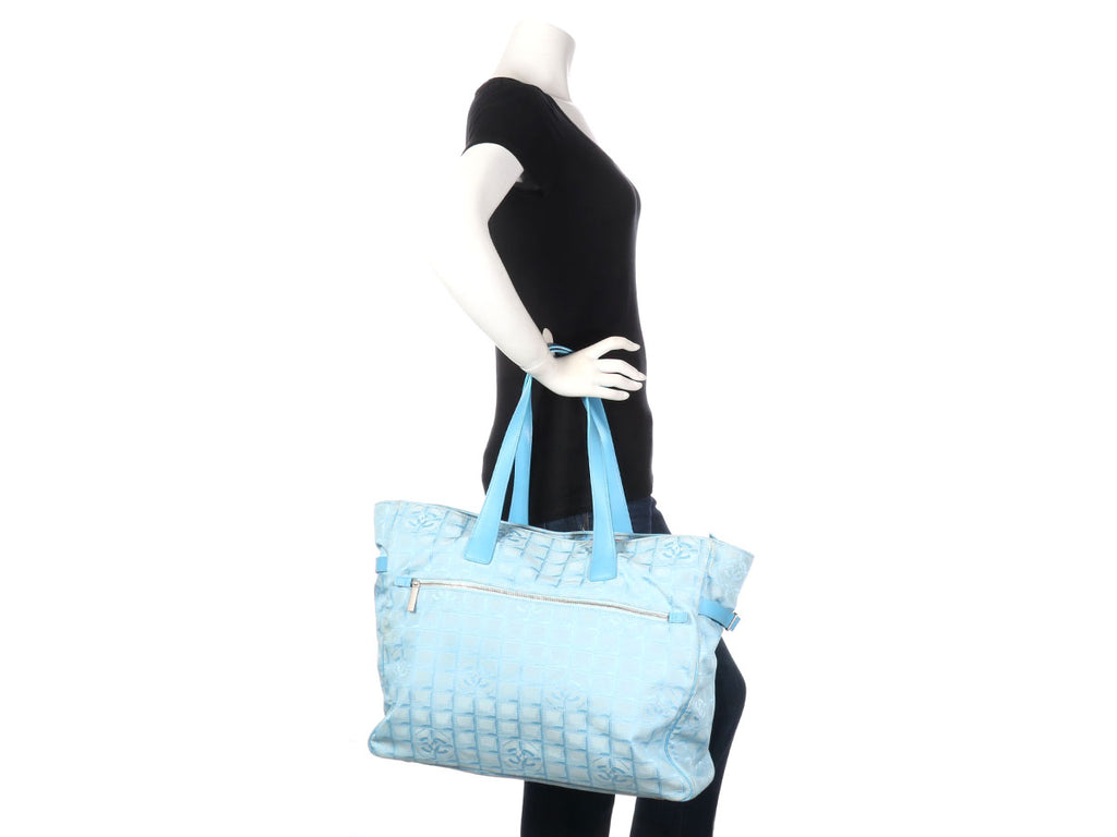 Chanel Extra Large Blue Travel Ligne Tote