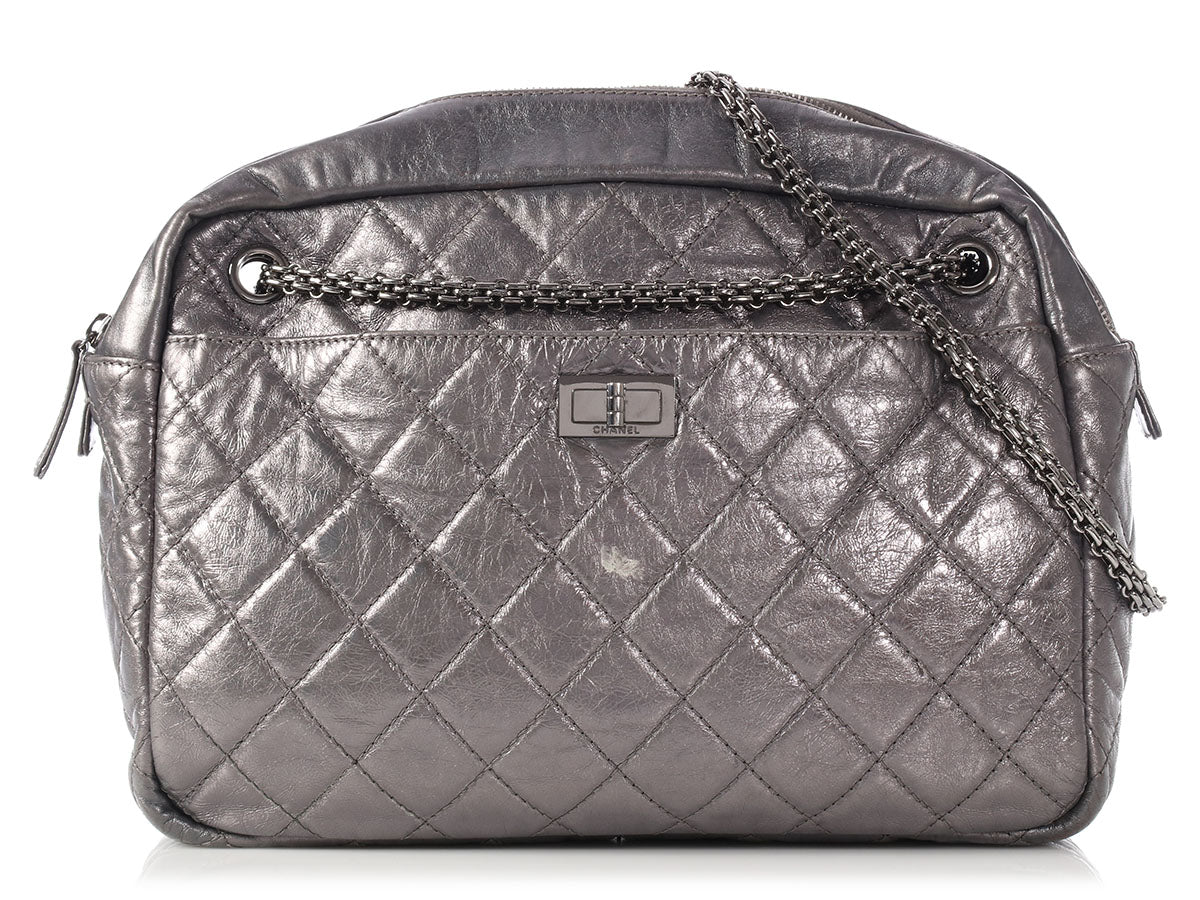 ac662f327974d Chanel Silver Metallic Reissue Camera Bag - Ann s Fabulous Closeouts