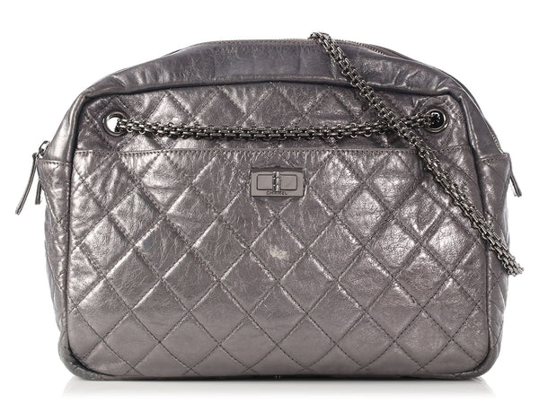 Chanel Silver Metallic Reissue Camera Bag